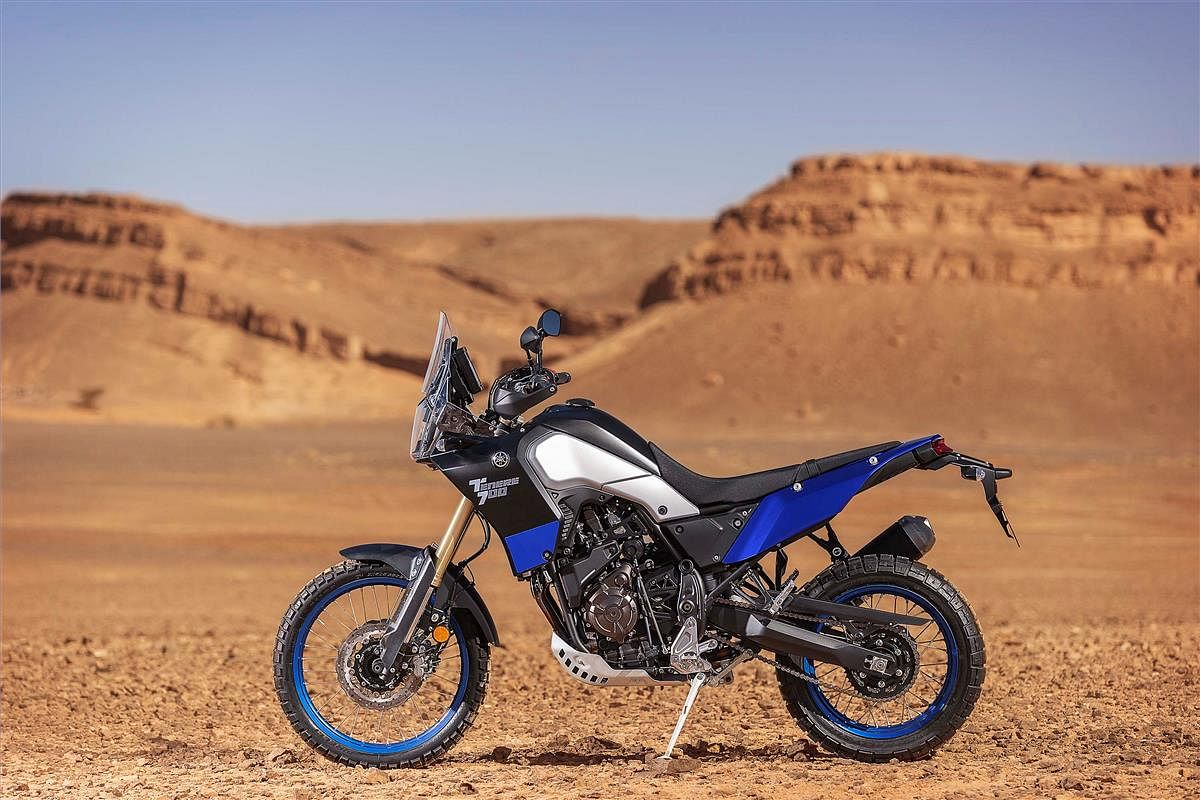 Tenere 700 looks like it is ready for the Dakar Rally straight out of showroom