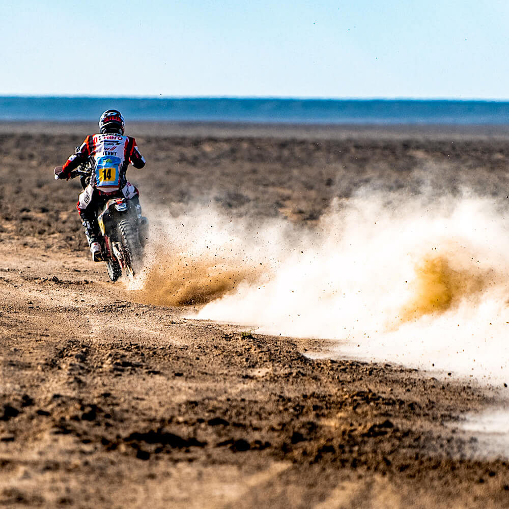The Hero riders found better pace in their Hero 450 Rally bike