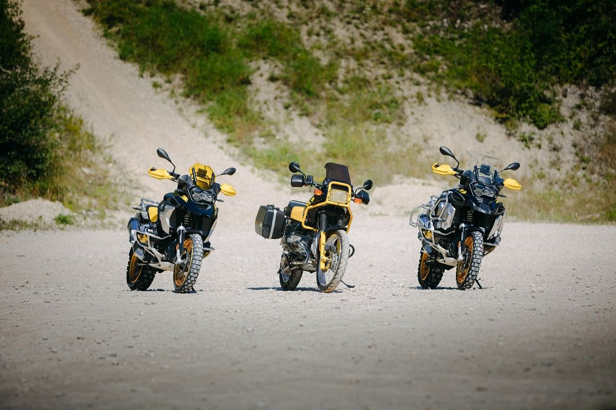 BMW R 1250 GS Adventure resembling the iconic BMW R 100 GS