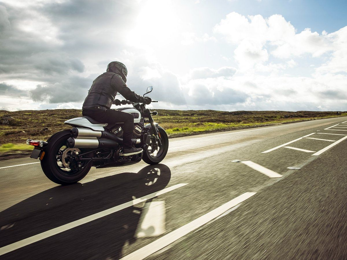 The rear of the Harley-Davidson Sportster S draws inspiration from the XR-750 flat-tracker