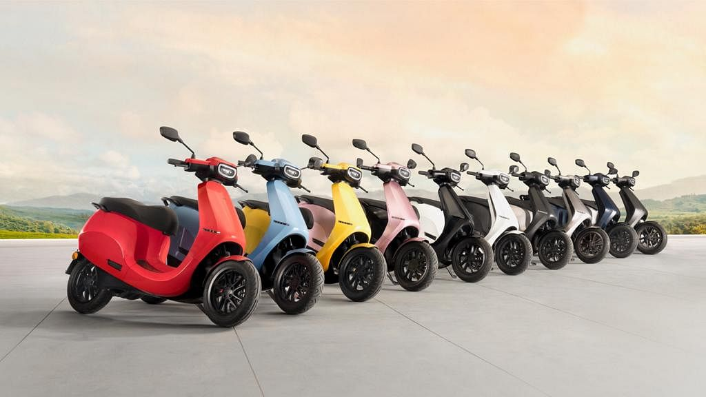 10 colour options for Ola  Scooter