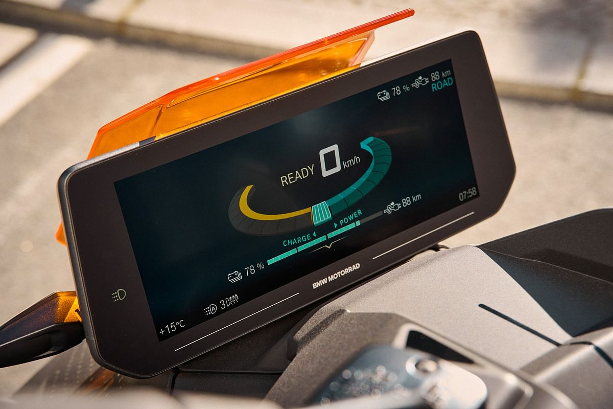 The 10.25-inch TFT display is the biggest ever fitted to a two-wheeled BMW