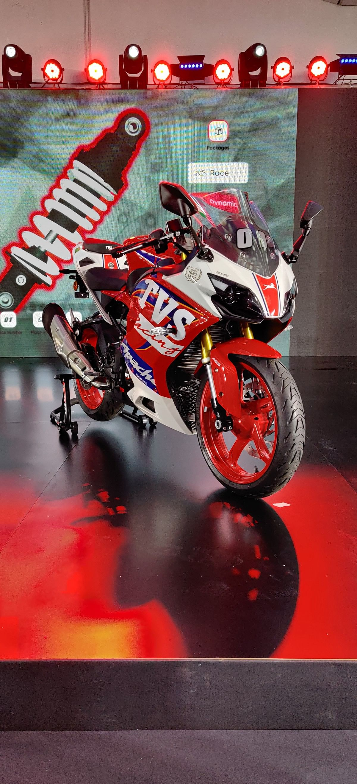 The new Apache RR310 gets race replica livery as a special graphic