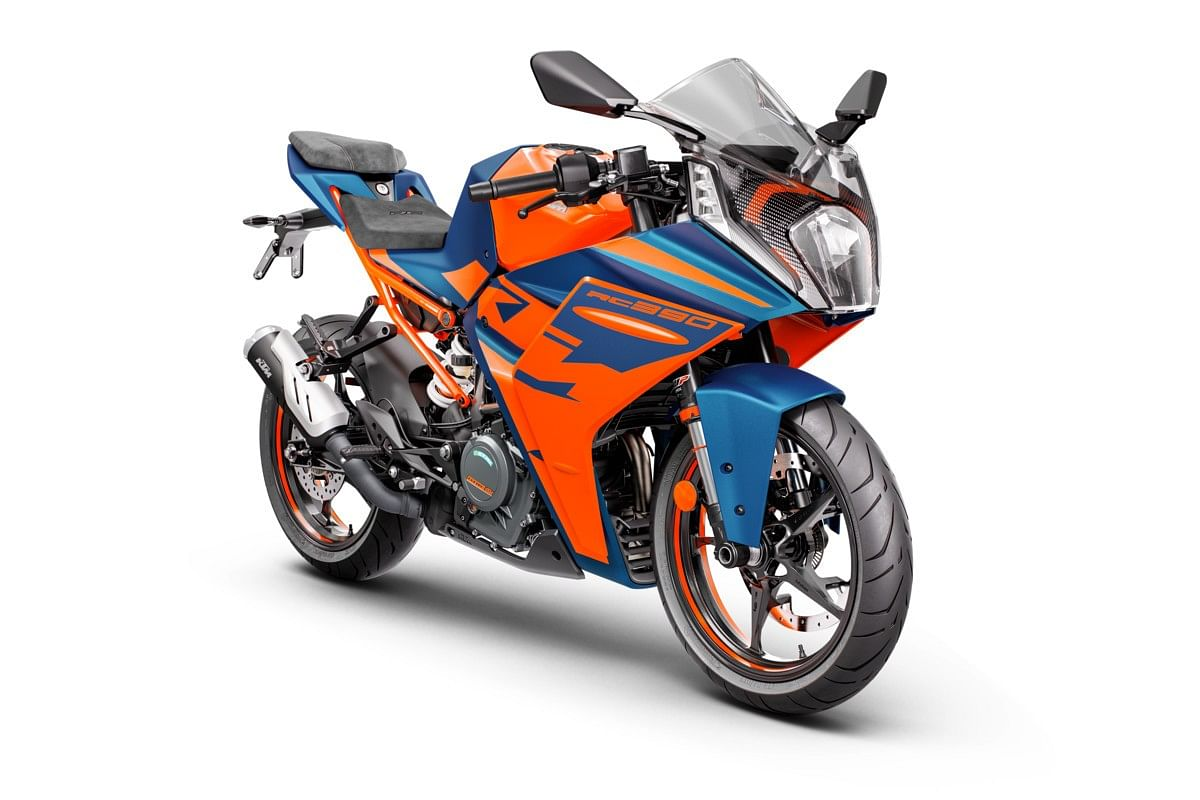 Blue colour scheme is exclusive to the RC 390