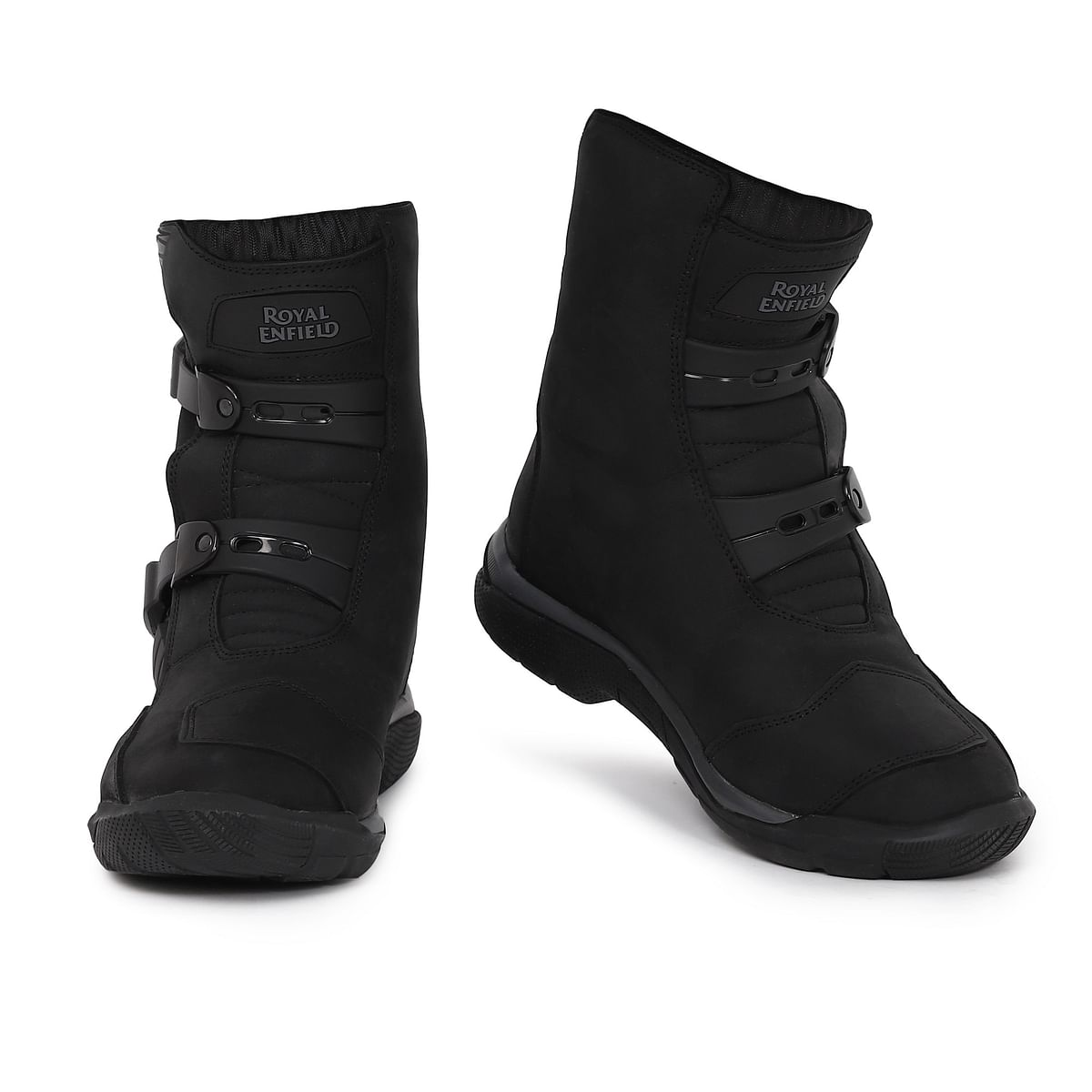 The Stelvio Mid Rise WP Boots can be had in black...