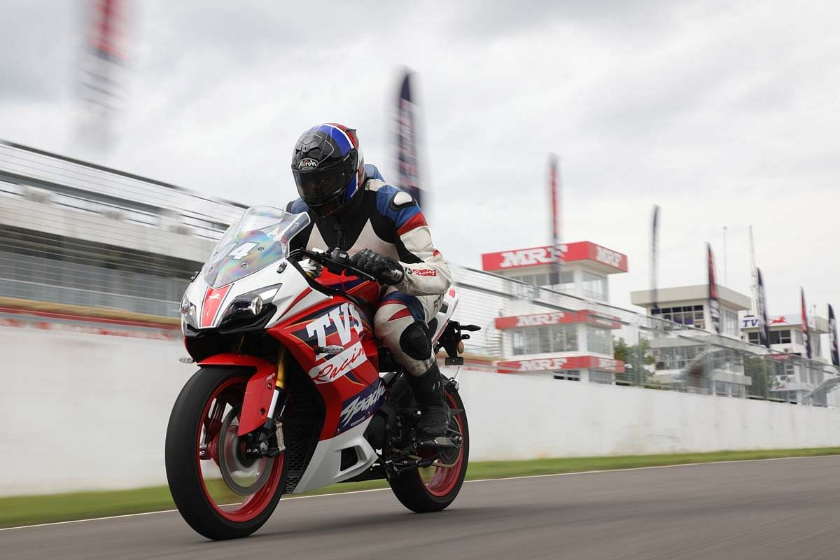 TVS' tradition of launching its roadbikes on a racetrack speaks a lot about their motorsport commitments