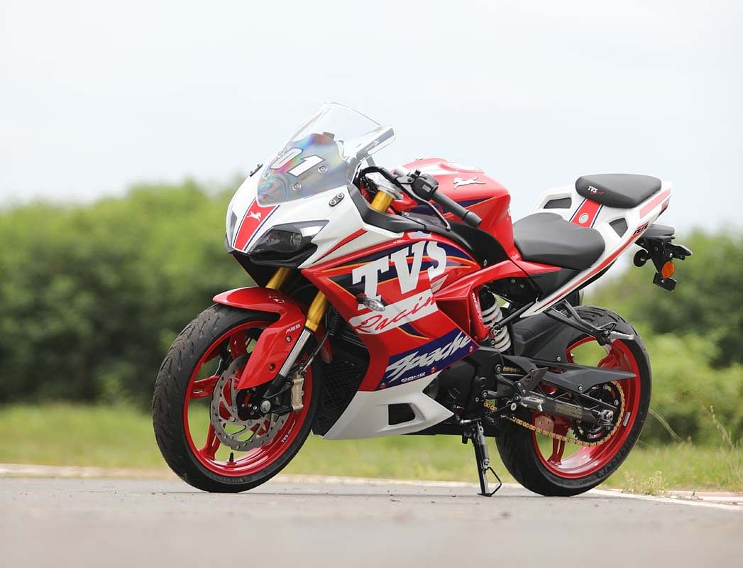 The fully kitted Apache RR 310 is just stunning to look at
