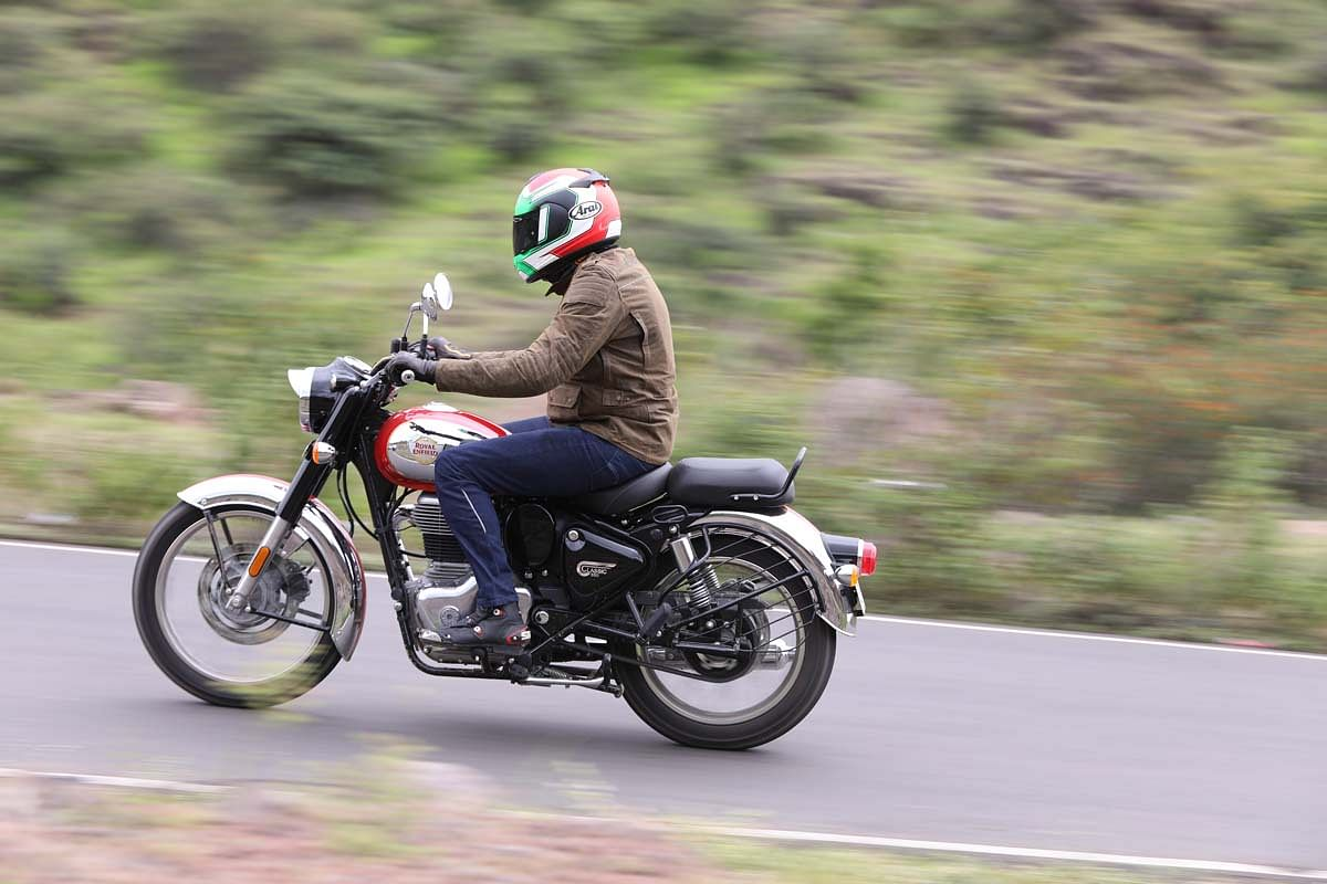 The ride on the new Royal Enfield Classic 350 is a lot more stable than it's predecessor