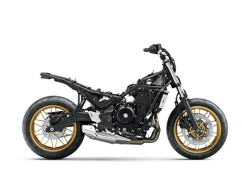 The underpinnings of the Z650RS are similar to that of the Z650