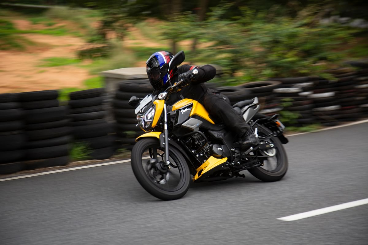 The TVS Raider is one of the best handling motorcycles in its class