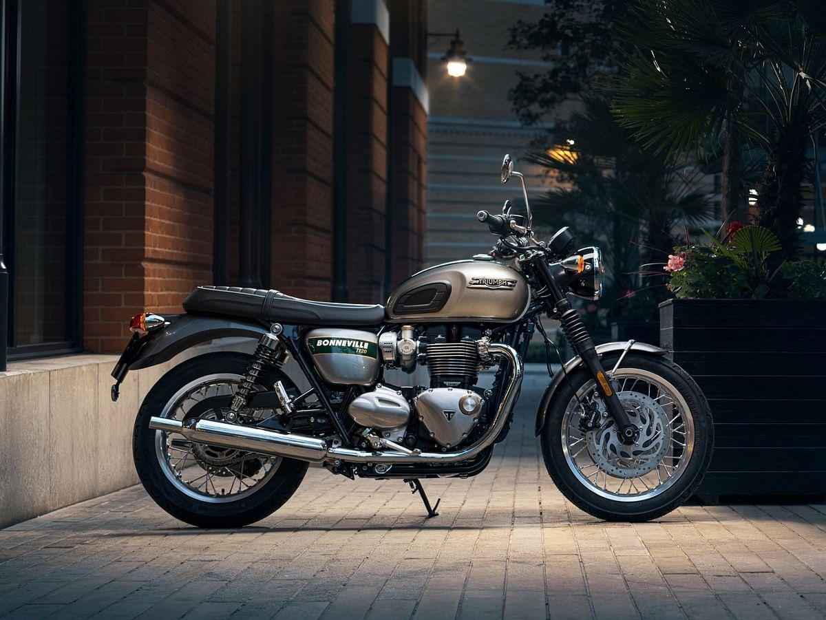 Triumph has unveiled six new Gold Line Bonnevilles