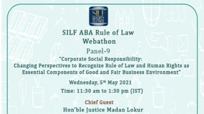 A Rule of Law 24-hours Webathon- By ABA & SILF
