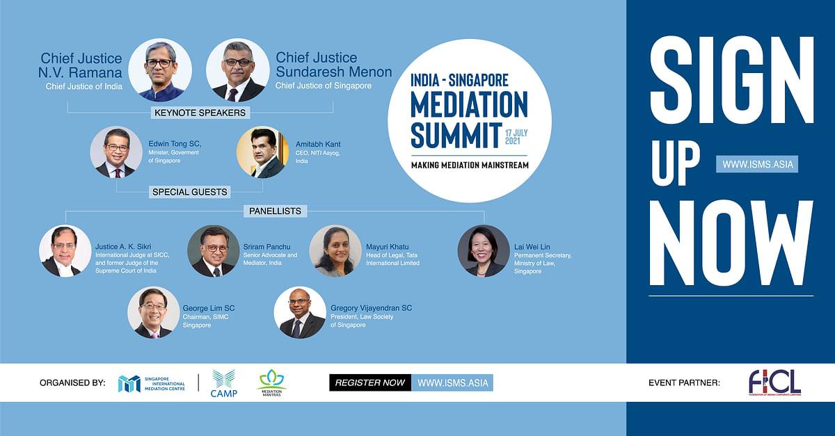 India – Singapore Mediation Summit 2021 (#ISMS2021)