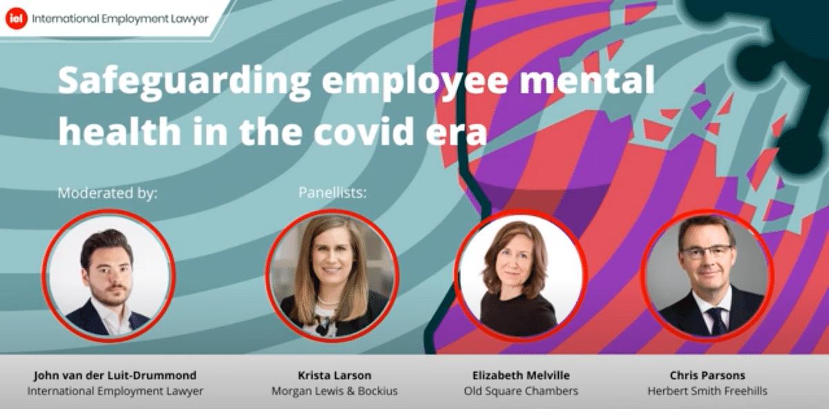 Webinar on safeguarding employee mental health in the covid era.