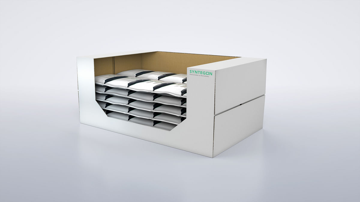 The Sigpack TTMD cartoner offers the  possibility of inserting the products  either flat or on-edge into the carton – this enhances presentation options at  the point of sale.