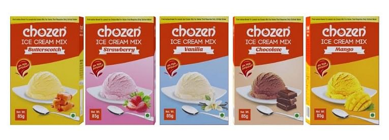 Chozen Foods ice cream mix will be available in five exciting variants - vanilla, chocolate, strawberry, butterscotch, and mango