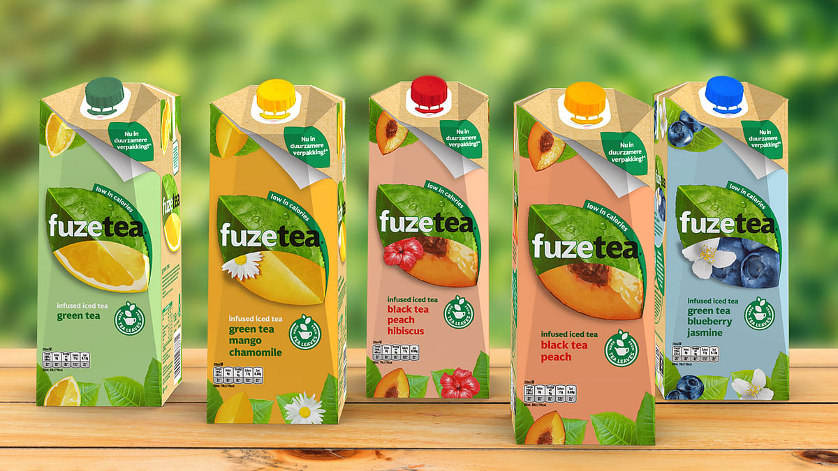 Coca Cola's Fuze Tea filled in SIG's signature packaging solution