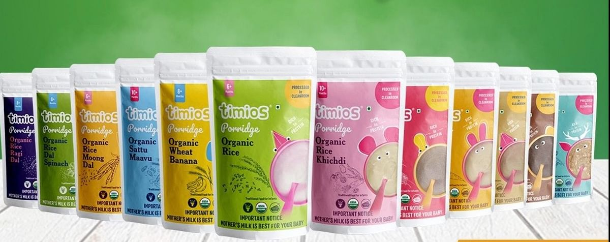Timios has recently launched porridge range for babies and infants