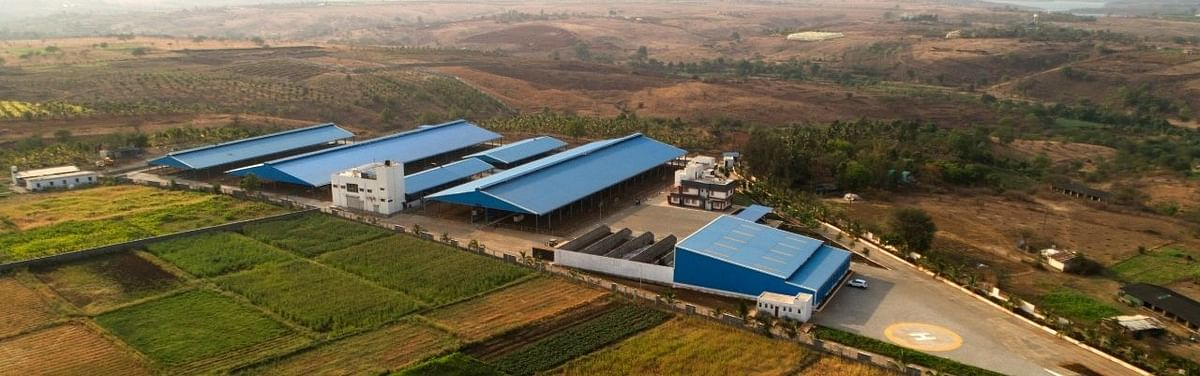 Their farm is designed as a retreat for their 350+ cow where a total mix ration system is followed for cows' diet requirements.