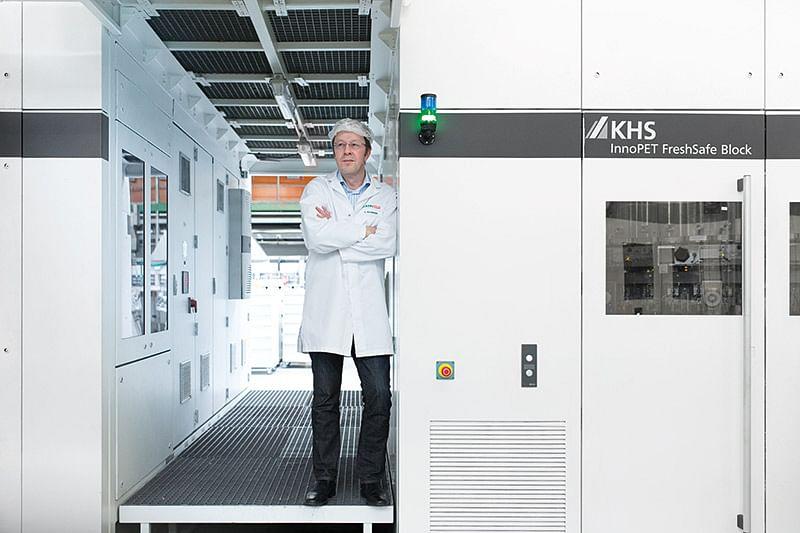 Hermann Naumann, plant manager for Eckes-Granini in Bad Fallingbostel in Lower Saxony