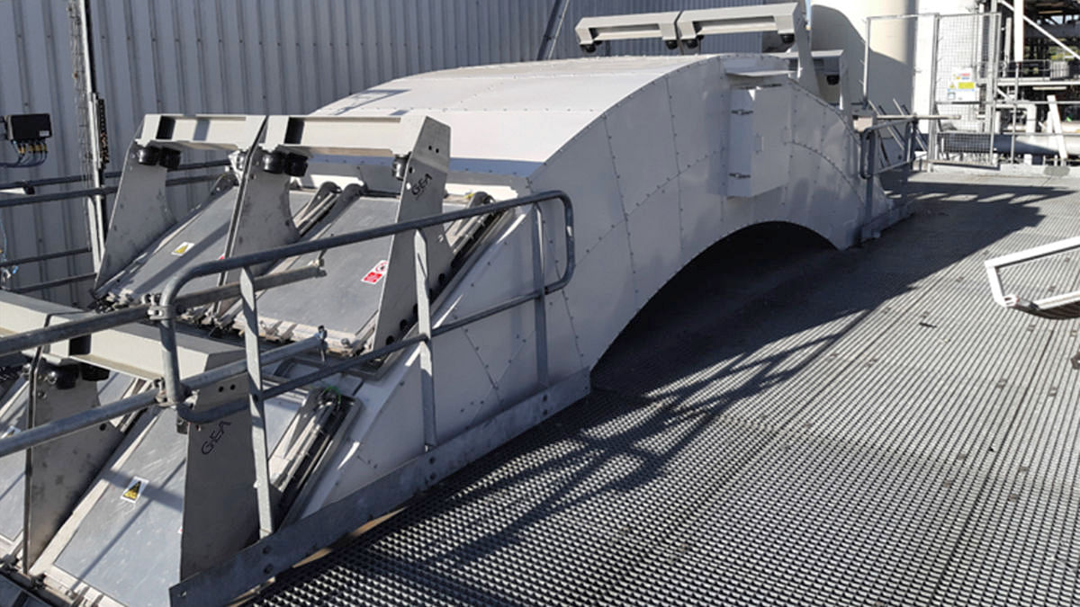 GEA CERTEX, ATEX-certified explosion vent doors fitted to the BioWanze bioethanol ring duct in Belgium
