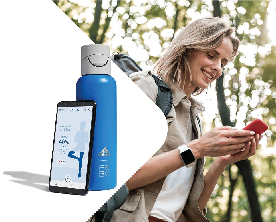 Aptar & REBO partner to launch smart reusable water bottle