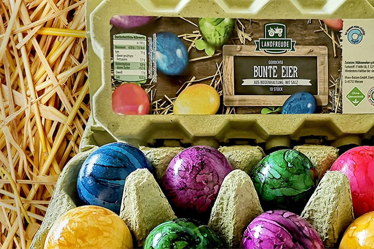 Huhtamaki launches Futuro, 100% plastic-free egg carton for cooked colored eggs