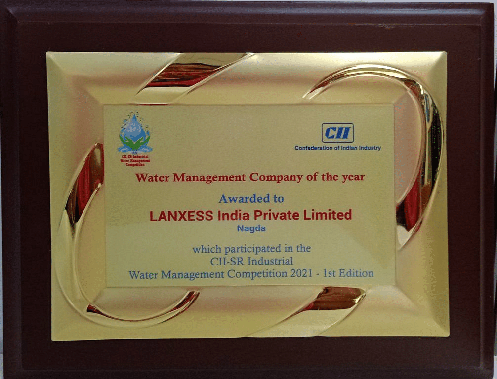 LANXESS India wins CII's Water Management Company of the Year 2020 award