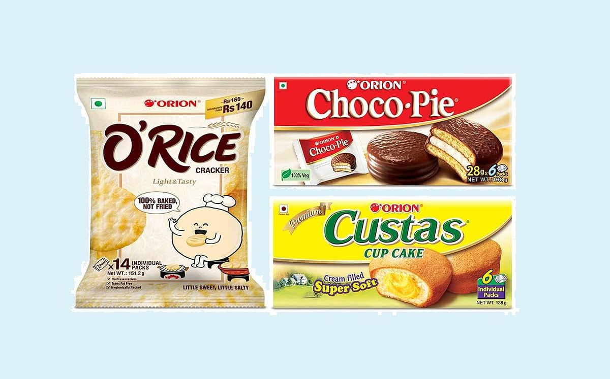 Orion brings Rice Cracker and Custas Cup Cakes to India