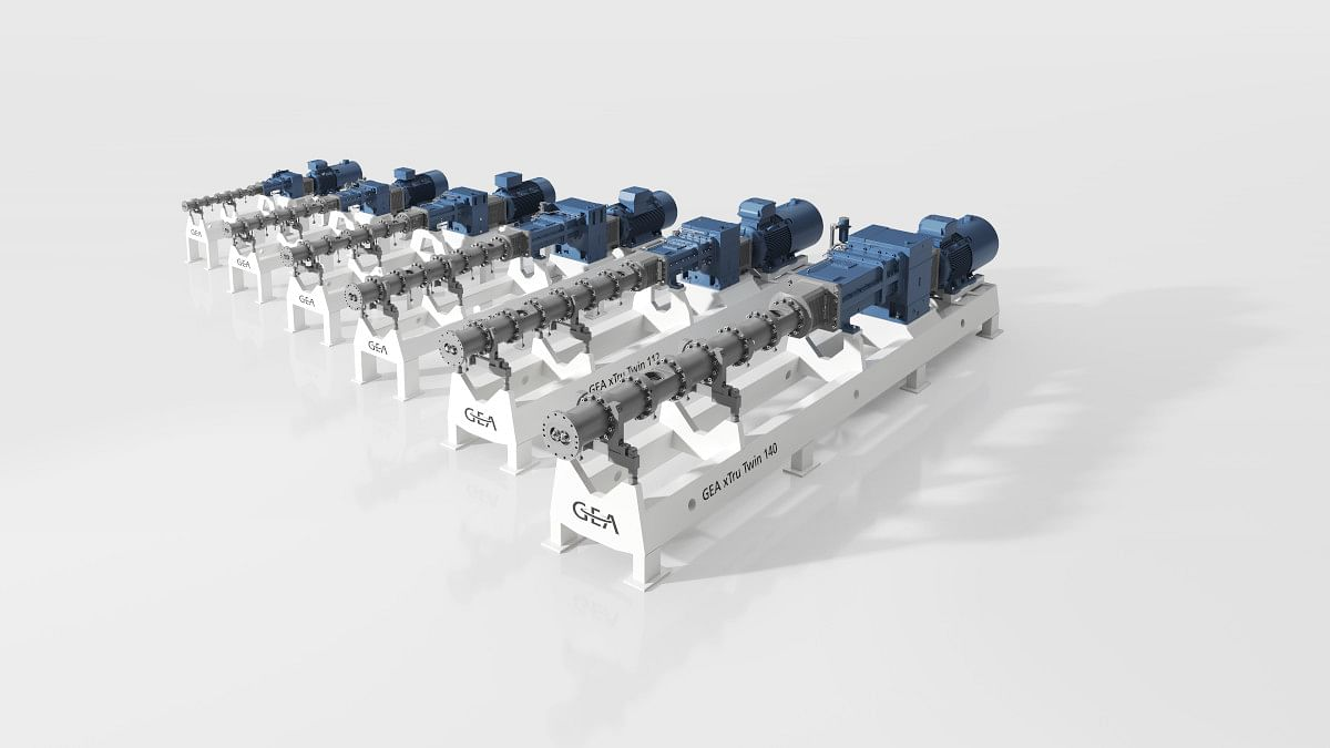 The new xTru Twin 140 extruder completes GEA's high-performance extruder range.