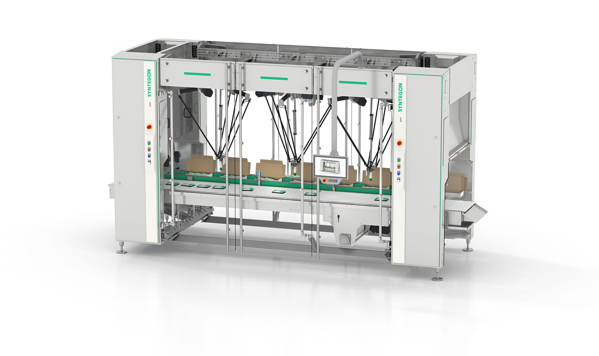Each robotic cell of the new robotics pick-and-place platform RPP can be configurated individually to automate processes such as feeding, handling and loading.