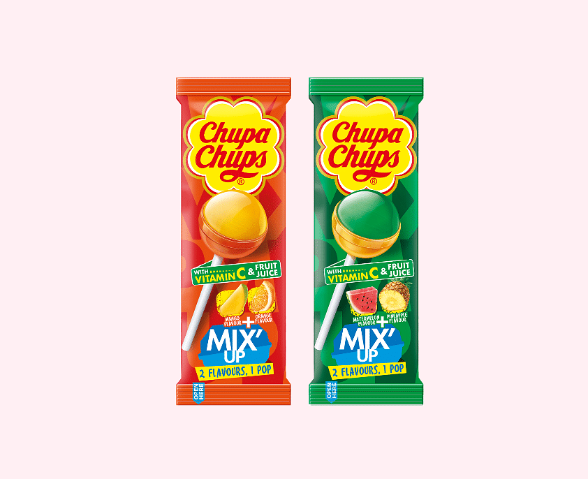 Chupa Chups introduces dual-flavored Mix Up Lollipop
