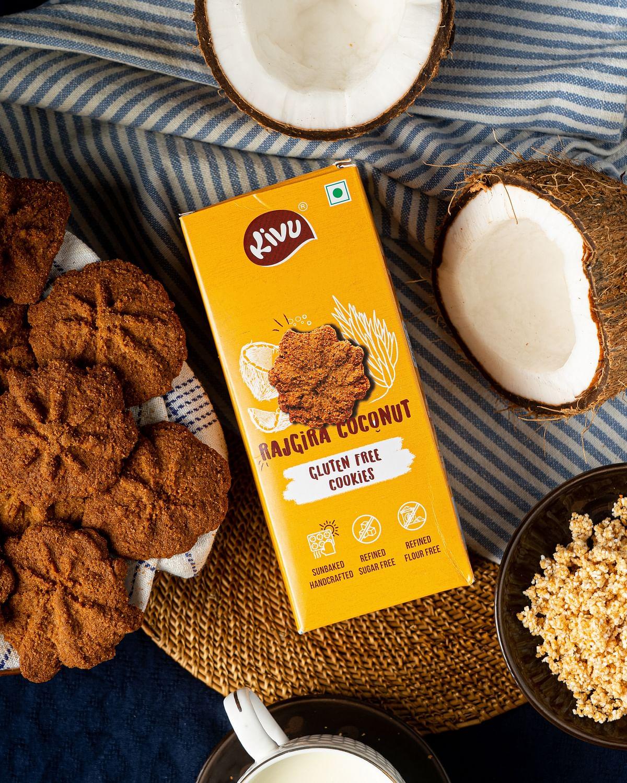 Kivu brings handcrafted & sunbaked Rajgira Coconut Cookies for Ganesh Chaturthi