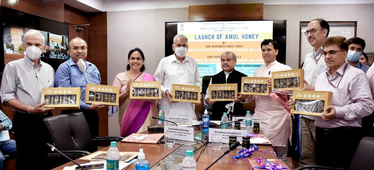 Union Minister Narendra Singh Tomar launches 'Amul Honey'