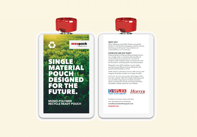 Uflex, Hoffer Plastics & Mespack partner to launch 100% Recyclable Mono-polymer Hot-Fill Pouches