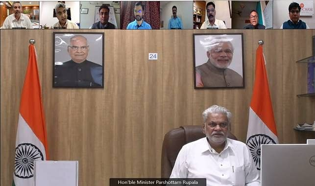 """<div class=""""paragraphs""""><p>Union Minister for Fisheries, Animal Husbandry and Dairying Parshottam Rupala</p></div>"""