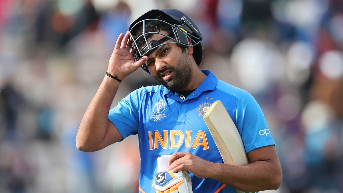 Southampton: Rohit Sharma takes off his helmet as he leaves the field after India's win over South Africa in their first Cricket World Cup match at the Hampshire Bowl in Southampton, England, Wednesday, June 5, 2019. AP/PTI