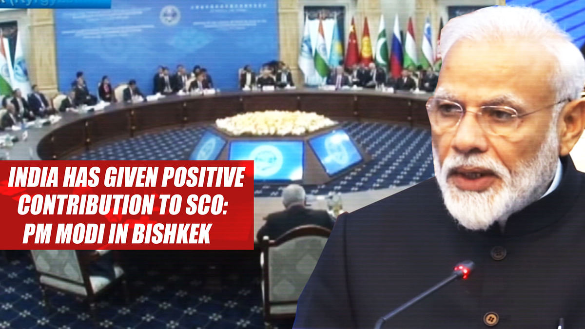 India has given positive contribution to SCO PM Modi in Bishkek