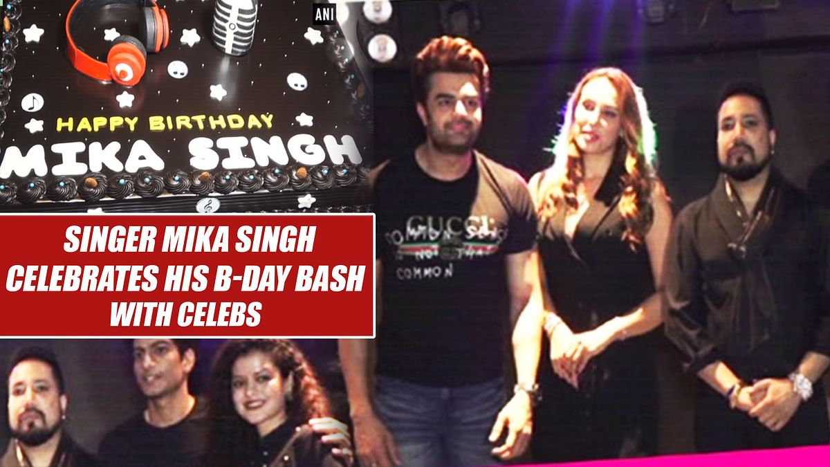 Singer Mika Singh Celebrates His B-day Bash With Celebs
