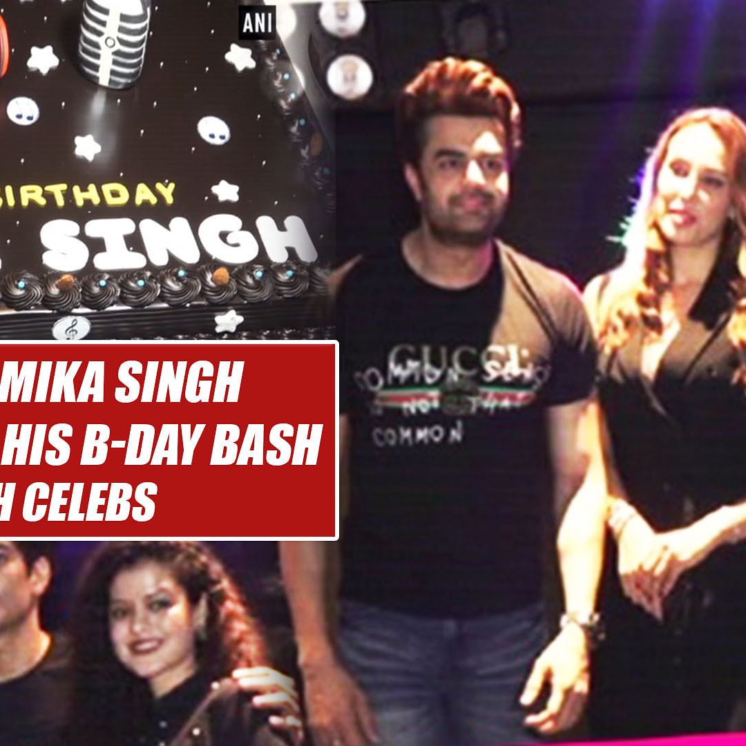 Singer Mika Singh Celebrates His B-day Bash With Celebs