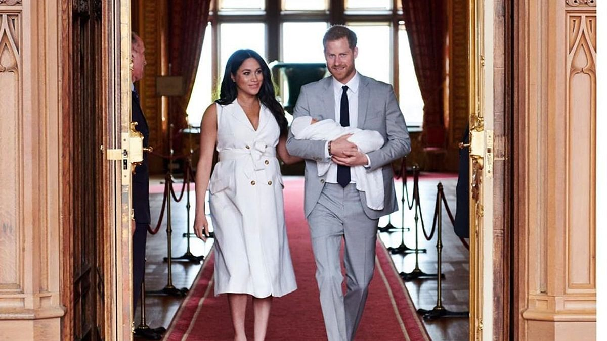 Prince Harry, Meghan Markle with son Archie