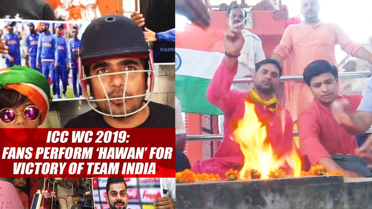 ICC WC 2019: Fans Perform 'Hawan' For Victory Of Team India