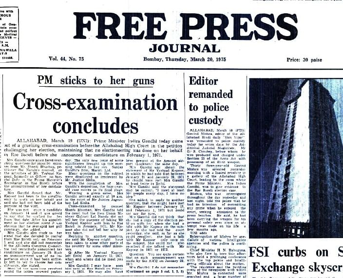 FPJ Archives: Are these 4 reasons why Indira Gandhi imposed Emergency?