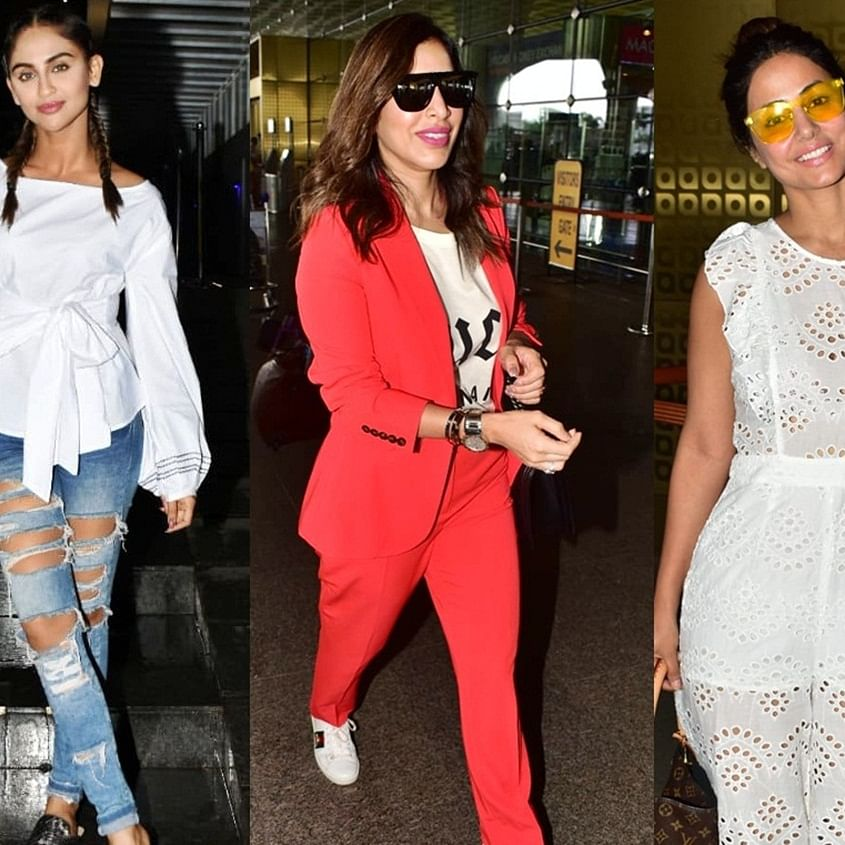 Did you see these pics of Malaika Arora, Allu Arjun and Krystle D'Souza?