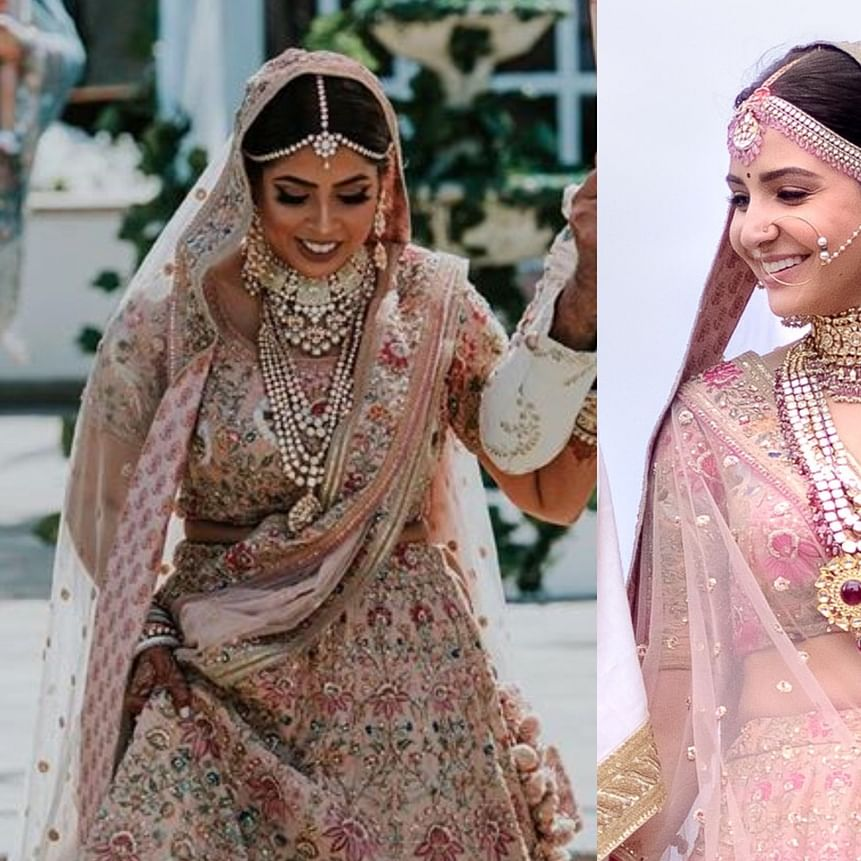 Abu Dhabi bride steals Anushka Sharma's wedding look in Sabyasachi!