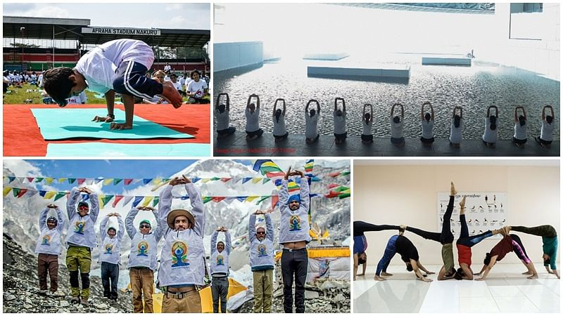 In pictures: Yoga Day 2019 celebrations begin across the globe
