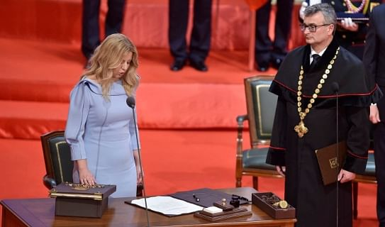 Zuzana Caputova sworn in as Slovakia's first female President