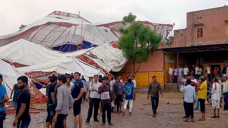 Rajasthan: 14 killed, 50 injured as pandal collapses in Barmer, state government announces compensation of Rs 5 lakh