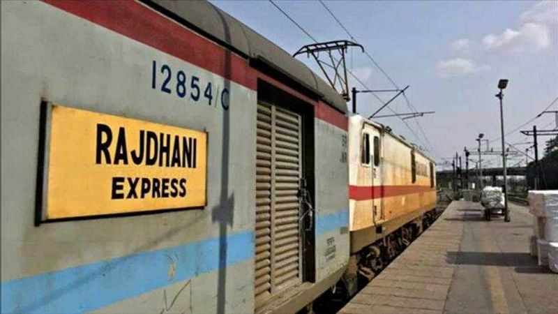 Rajdhani Express with lone woman passenger