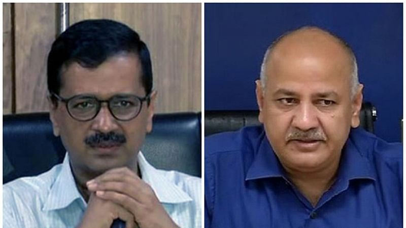 Delhi Chief Minister Arvind Kejriwal (L) and Deputy Chief Minister Manish Sisodia (R)